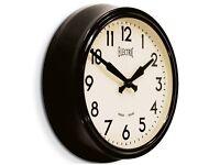 Giant Black Newgate Electric Station Wall Clock