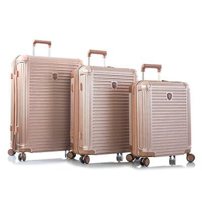 "Heys Edge Rose Gold 3-Piece Spinner Luggage - 21"" - 26"" 30"" - Hard-Sided"