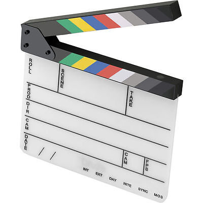 Elvid 9-section Acrylic Production Slate With Color Clapp...