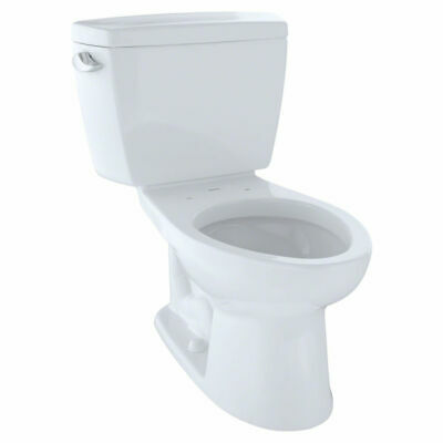 TOTO Drake Two-Piece Toilet - 1.6 GPF , Elongated, Cotton Wh