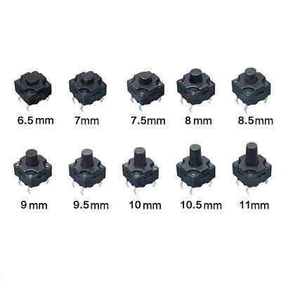 Vertical Waterproof Tactile Switch 8x8x6.5mm12mm 4pin Micro Button Small Mini