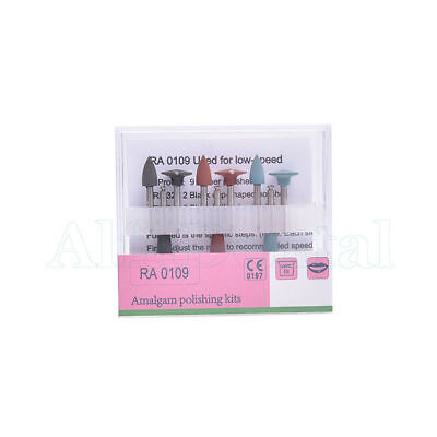 Dental Amalgam Polishing Kits Ra 0109 Low-speed Burs Cups Silicone Rubber