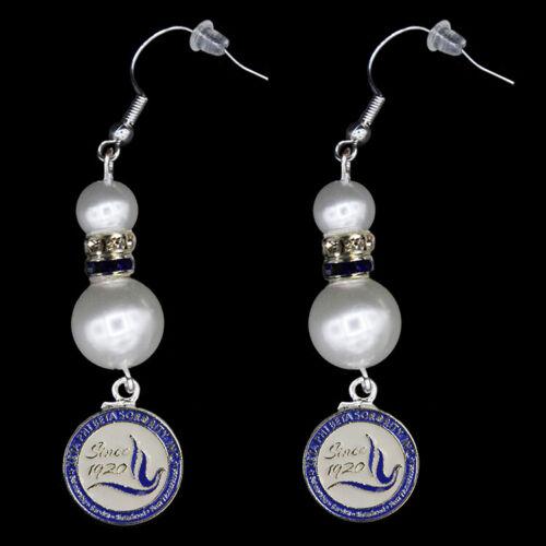Zeta Phi Beta Sorority Pearl Earrings-New!
