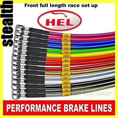 Yamaha YZF-R6 2006-15 HEL Stainless steel Brake lines / hoses Race