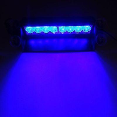 8 LED Strobe Dash/ Deck/ Windscreen Light Bar Beacon (Blue) police fire UK base