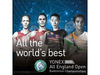 YONEX OPEN BADMINTON CHAMPIONSHIPS TICKETS x3