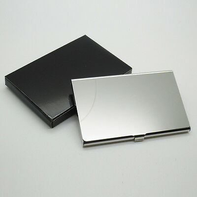 Silver Pocket Stainless Steel Metal Business Card Holder Case Id Credit Wallet