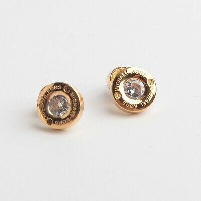Michael Kors Gold Tone Stud Earrings With Dust Bag