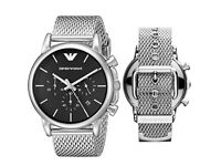 EMPORIO ARMANI STAINLESS STEEL STRAP MENS WATCH