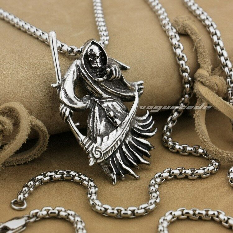 biker on american leather gothic pewter shop cross pendant necklace