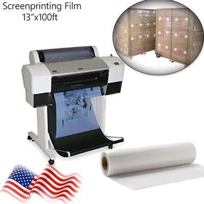 13x100ft Rollwaterproof Inkjet Fast-dry Screen Printing Transparent Film