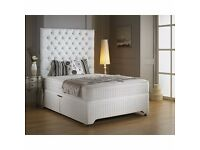 **1 YEAR WARRANTY** DOUBLE SIZE 1000 POCKET SPRUNG DIVAN BED AND MATTRESS *CHEAPEST PRICE GUARANTEED