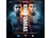 6x Boxing Tickets Amir Khan vs Samuel Vargas £40