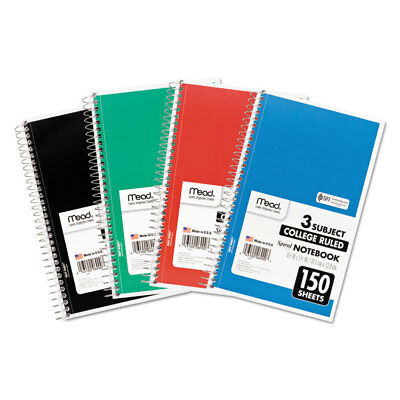 Mead Spiral Bound Notebook Perforated College Rule 9 12 X 6 White 150 Sheets