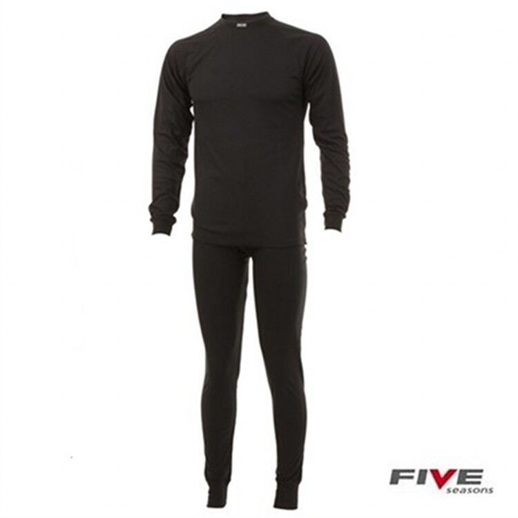Five Seasons 3-4 years Black Superkids 2 Piece base layer thermals RRP £25