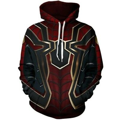 Avengers Infinity War Spiderman sweater Hoodie Iron spider Coat Cosplay Costume