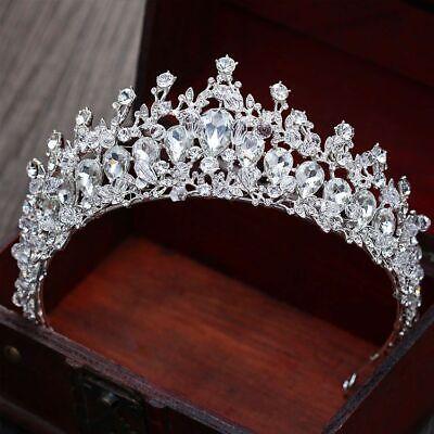 Tiara Cristal Concursos de Belleza Boda Reina Corona Novia Estrás Pelo Diadema