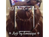 Mobile hair extension specialist, LA weave