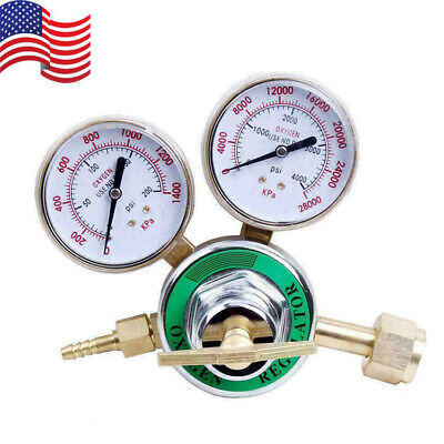 Pressure Oxygen Regulator Welding Gas Gauge Cutting Torch Tool 2 Gauges Cga540
