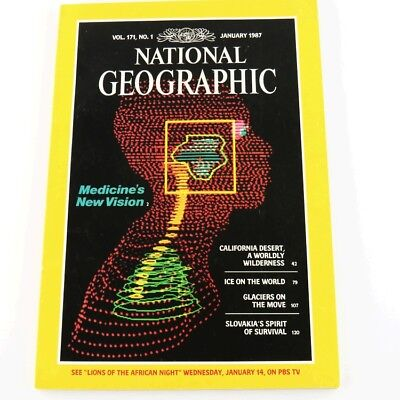 National Geographic Vol 171 No 1 Jan 1987 Medicines New Vision California Desert