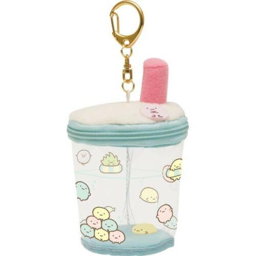 Japan San-X Sumikko Gurashi Boba Milk Tea Cup Plush Keychain Cute Kawaii Toy