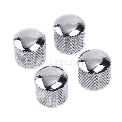 4 Piezas Metal Domo Tono Volumen Control Pomo Para Eléctrico Bajo Partes...
