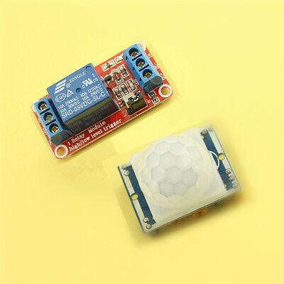 Hc-sr501 Human Infrared Pyroelectr Sensor Pir 5v 1 Channel Relay Module