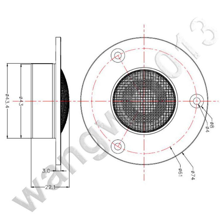 "1pcs 3/""//74mm 4ohm 4Ω 15W Ribbon Tweeter Car Treble Speaker Fever-Level Tweeter"