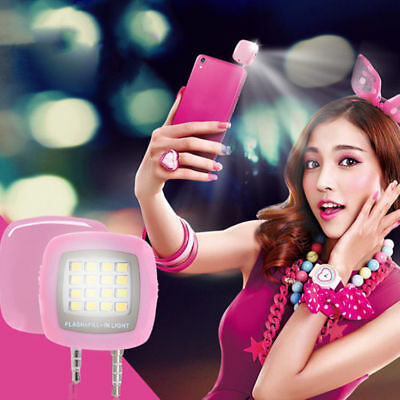 FLASH ESTERNO CELLULARE SELFIE LUCE ANDROID SMARTPHONE LED