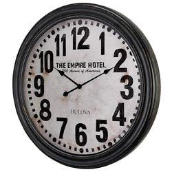 Bulova Hotelier 31 Wooden Case Oversized Wall Clock C4819