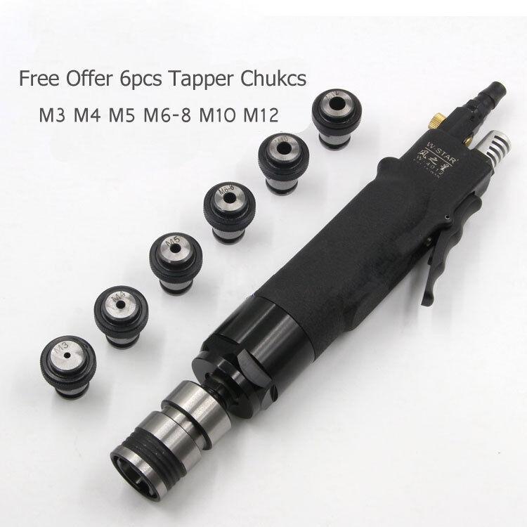 6pc Chucks Pneumatic Tapping Machine 200rpm Air Drill Tapper Tool M3-12 //M