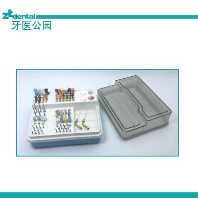 Dental Endo Box Autoclavable Plastic Composition 91 Holes 4 Small Wells 1 Pan
