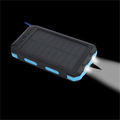 waterproof 30000mah solar power bank 2 led