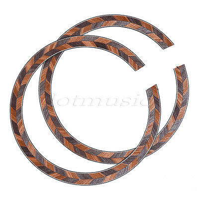 2 Pcs Maple Acoustic Guitar Soundhole Rosette