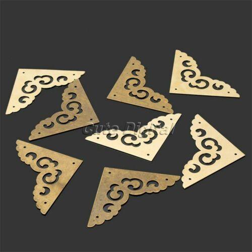 Triangular Box Corner Protectors Decorative Brackets for Trinket Jewelerry
