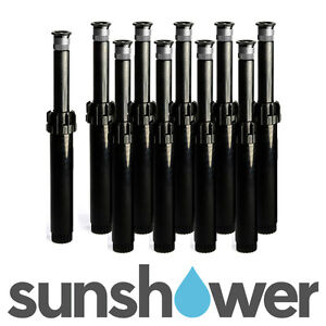 10 x Hunter PS Ultra Pop-Up Sprinklers with 17' Adjustable Nozzles