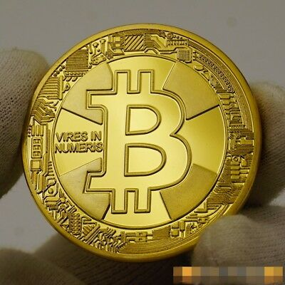 2017 BTC Bitcoin Gold Medal Physical Coin Souvenir Collection IN  CASE FREE SHIP
