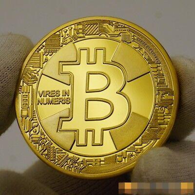 2017 BTC Bitcoin Gold Medal Physical Coin Souvenir Collection IN  CASE FREE SHIP
