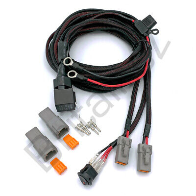 Britalitez 12V 3m Wiring loom with twin harness and relay for Spot/fog lights