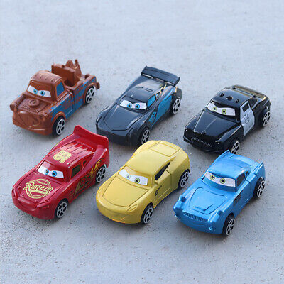Disney Cars Cake Toppers (6 pcs Plastic Disney CARS Lightning McQueen & Mater Cake Toppers Party Gift)