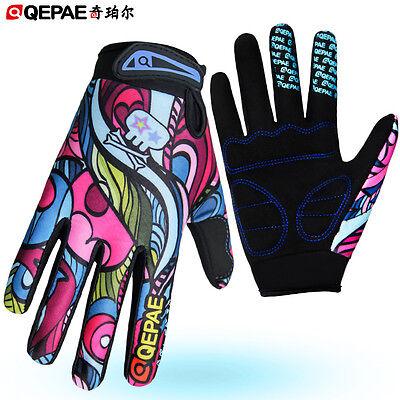 Qepae Women's Gel Cycling Gloves Full Finger Ladies Bike Bicycle Cycle Gloves