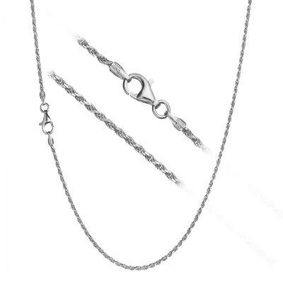 Solid 925 Sterling Silver 1.7mm Italian Diamond Cut Twisted Rope Chain (Solid Sterling Silver Twist)