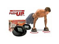 Push Up Pro - Rotating Grips Gym Workout for Chest, Abs, Arms, Press Exercise
