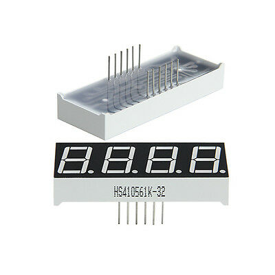 Geeetech 2x 0.56 7 Segment 4 Digit Common Anode Red Led Digital Display