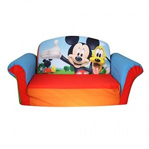 Marshmallow Furniture Flip Open Sofa Mickey Mouse Club House, New, Free Shipping
