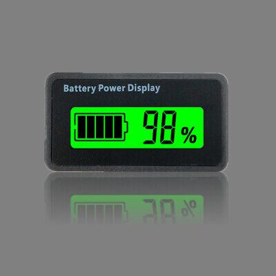 Mini Battery Capacity Indicator Voltmeter Percentage Power Monitor For Lead-Acid