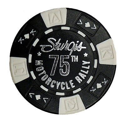 Sturgis Harley Davidson 75th Motorcycle Rally Poker Chip Black Hills 75
