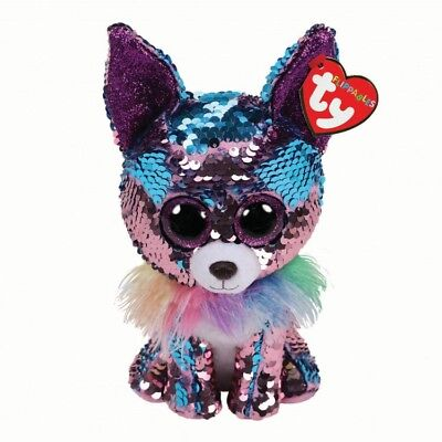 Yappy The Flippable Sequin Chihuahua Toy, Ty Flippables Collection 9
