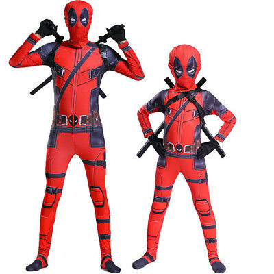 Deadpool Cosplay Costume X-men Zentai Suit Cos Tight Halloween For Adult & Kids - X Men Costumes For Adults