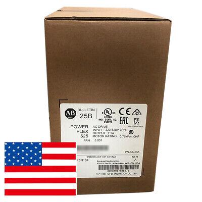 Factory Sealed Allen-bradley Powerflex 525 0.75kw 1hp Ac Drive 25b-d2p3n104